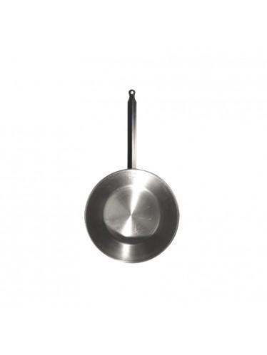 Ατσάλινο τηγάνι βαθύ L'Arbalete Carbon Steel 24cm | www.mantemi.gr