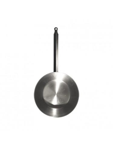 Ατσάλινο τηγάνι βαθύ L'Arbalete Carbon Steel 28cm   www.mantemi.gr
