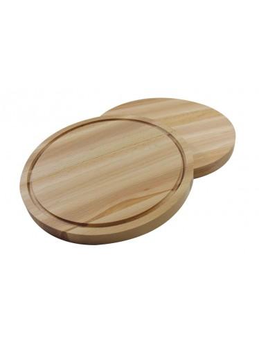 Στρογγυλή ξύλινη επιφάνεια κοπής οξιά Ø25x2 cm | www.mantemi.gr