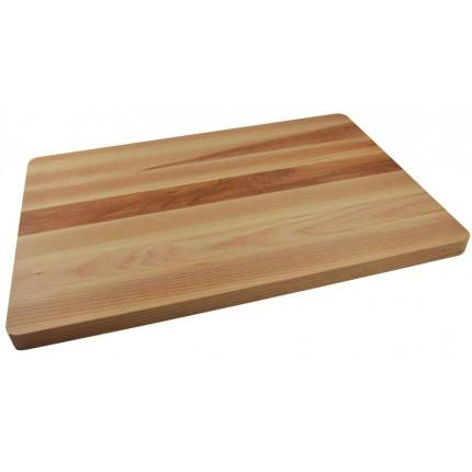 Ορθογώνια ξύλινη επιφάνεια κοπής οξιά 44x30x2 cm   www.mantemi.gr
