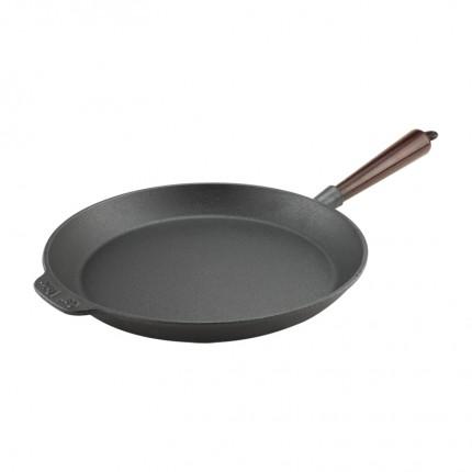 Μαντεμένιο τηγάνι Carl Victor 28cm με ξύλινο χερούλι